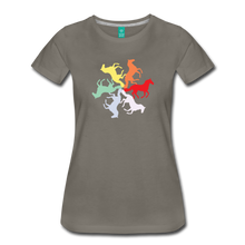 Load image into Gallery viewer, Women's Rainbow Horse Circle T-Shirt - asphalt