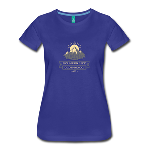 Women's Mountain Life Clothing Co T-Shirt - royal blue