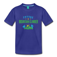 Load image into Gallery viewer, Toddler Future Mountain Climber T-Shirt - royal blue