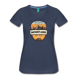 Women's Mountain's Calling T-Shirt - navy