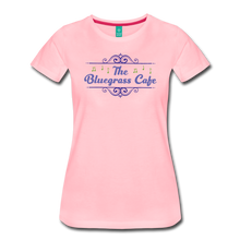 Load image into Gallery viewer, Women's The Bluegrass Cafe (swirl) T-Shirt - pink