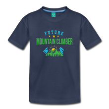 Load image into Gallery viewer, Toddler Future Mountain Climber T-Shirt - navy