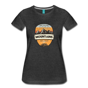 Women's Mountain's Calling T-Shirt - charcoal gray