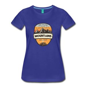 Women's Mountain's Calling T-Shirt - royal blue