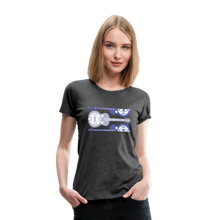 Load image into Gallery viewer, Women's Split Dobro T-Shirt - charcoal gray