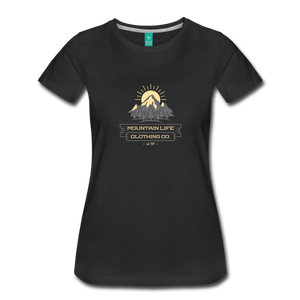 Women's Mountain Life Clothing Co T-Shirt - black