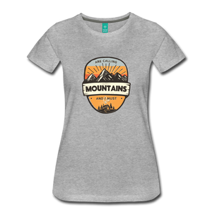 Women's Mountain's Calling T-Shirt - heather gray