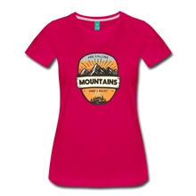 Load image into Gallery viewer, Women's Mountain's Calling T-Shirt - dark pink