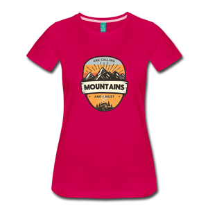 Women's Mountain's Calling T-Shirt - dark pink