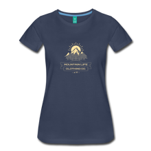 Load image into Gallery viewer, Women's Mountain Life Clothing Co T-Shirt - navy