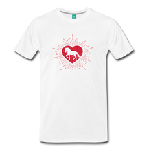 Load image into Gallery viewer, Men's Sunburst Heart Horse T-Shirt - white