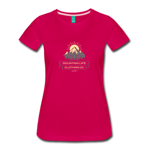 Women's Mountain Life Clothing Co T-Shirt - dark pink
