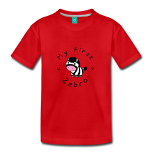 Load image into Gallery viewer, Toddler My First Zebra T-Shirt - red