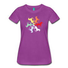 Load image into Gallery viewer, Women's Rainbow Horse Circle T-Shirt - light purple