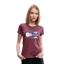 Load image into Gallery viewer, Women's Split Dobro T-Shirt - heather burgundy