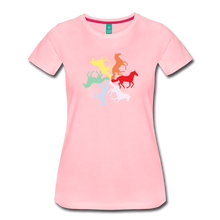 Load image into Gallery viewer, Women's Rainbow Horse Circle T-Shirt - pink