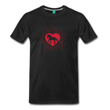 Load image into Gallery viewer, Men's Sunburst Heart Horse T-Shirt - black