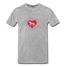 Load image into Gallery viewer, Men's Sunburst Heart Horse T-Shirt - heather gray