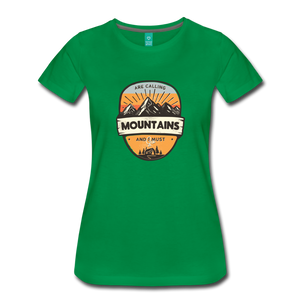 Women's Mountain's Calling T-Shirt - kelly green