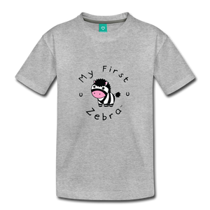 Toddler My First Zebra T-Shirt - heather gray