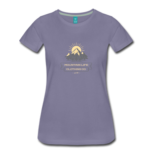 Women's Mountain Life Clothing Co T-Shirt - washed violet