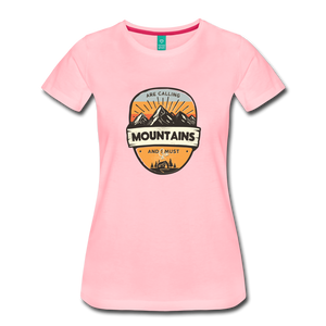 Women's Mountain's Calling T-Shirt - pink