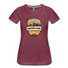 Load image into Gallery viewer, Women's Mountain's Calling T-Shirt - heather burgundy