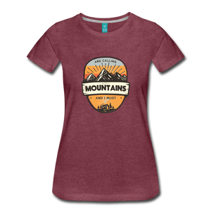 Women's Mountain's Calling T-Shirt - heather burgundy