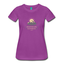 Load image into Gallery viewer, Women's Mountain Life Clothing Co T-Shirt - light purple