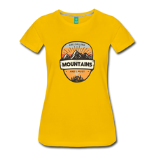 Load image into Gallery viewer, Women's Mountain's Calling T-Shirt - sun yellow