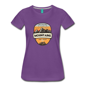 Women's Mountain's Calling T-Shirt - purple