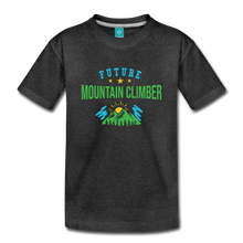 Load image into Gallery viewer, Toddler Future Mountain Climber T-Shirt - charcoal gray