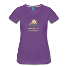Load image into Gallery viewer, Women's Mountain Life Clothing Co T-Shirt - purple