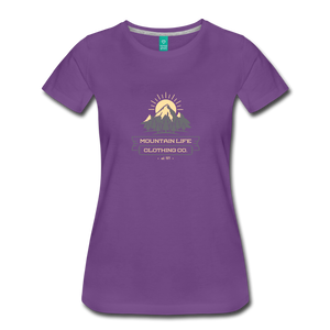 Women's Mountain Life Clothing Co T-Shirt - purple