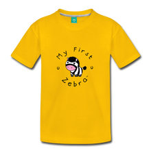 Load image into Gallery viewer, Toddler My First Zebra T-Shirt - sun yellow