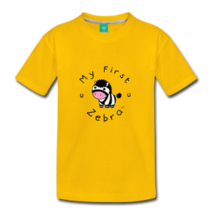 Toddler My First Zebra T-Shirt - sun yellow
