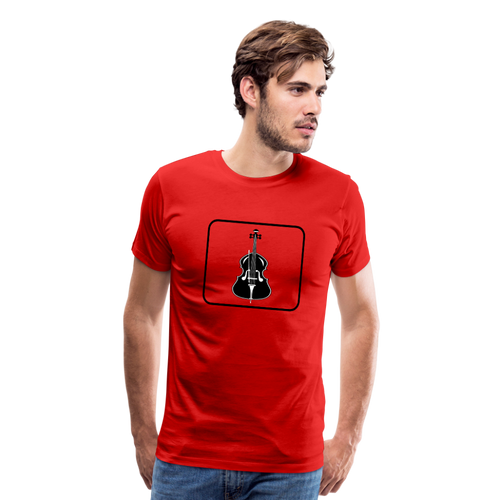Men's Upright Bass  Icon T-Shirt - red