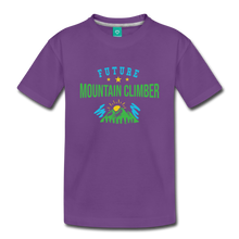 Load image into Gallery viewer, Toddler Future Mountain Climber T-Shirt - purple