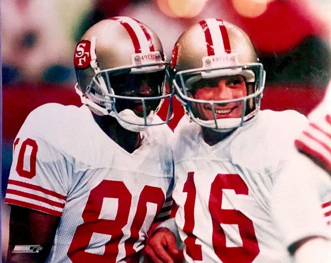 Joe Montana & Jerry Rice unsigned 16x20 NFL Licensed Photo