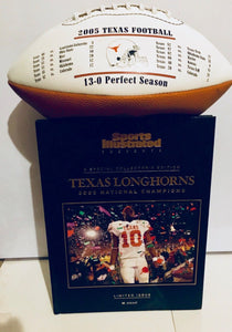 "Sports Illustrated Texas 05 National Champs Collectors ""Hardback And Football"""