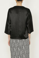 Black Satin Travel Tunic Top