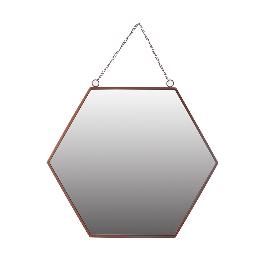 Bb37-123007 Hexagon Mirror