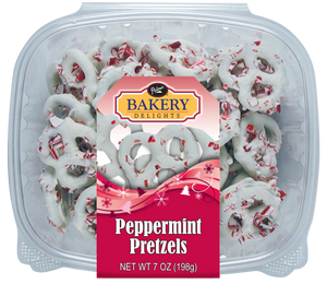 Frosted Peppermint Pretzels