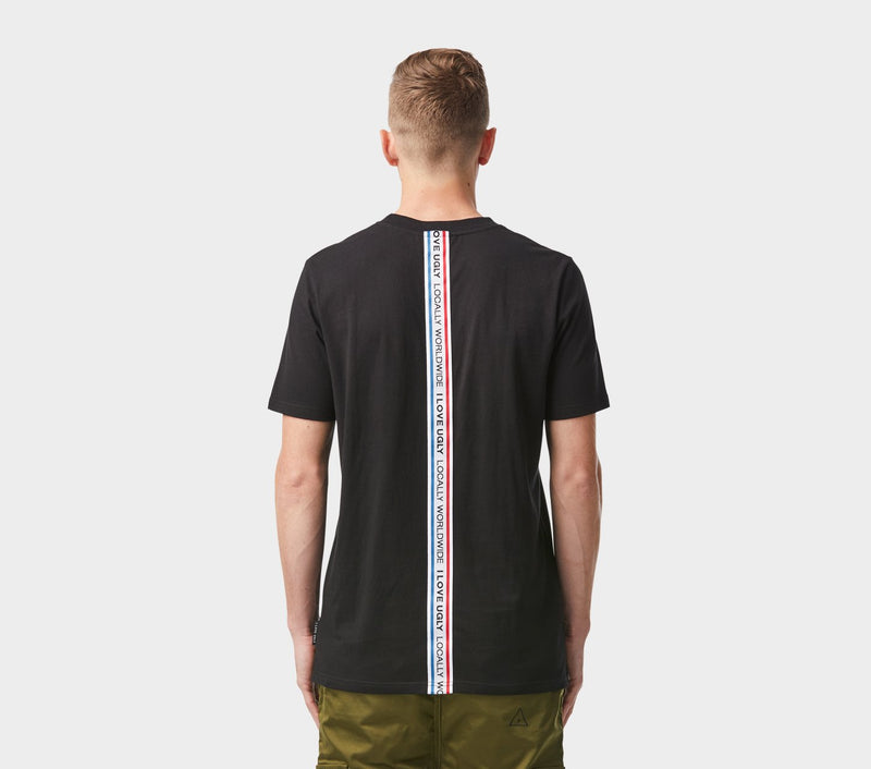 Vertical Tape Tee - Black