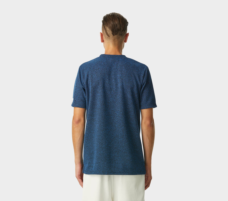Textured Tee - Blue Speckle
