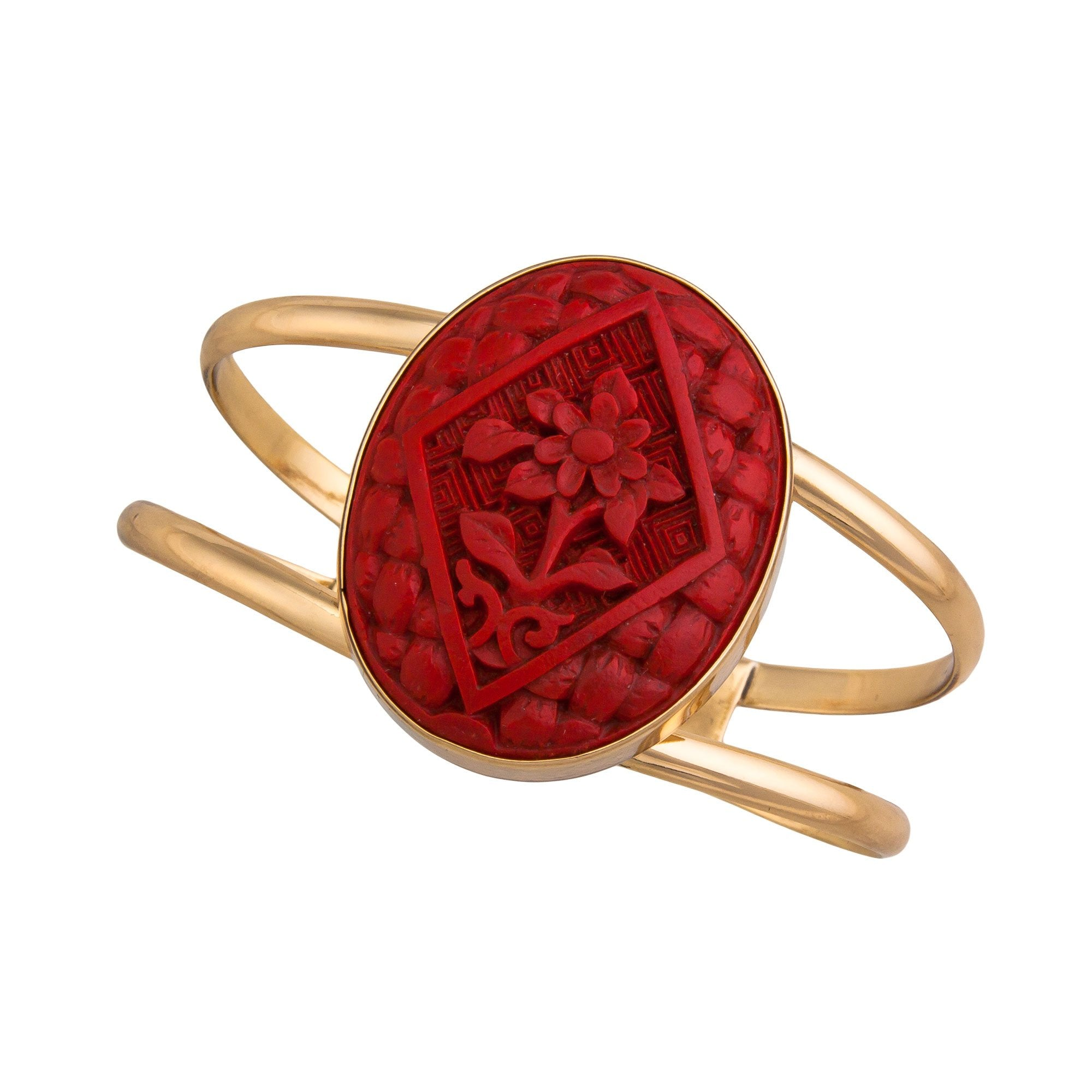 Alchemia Cinnabar Flower Double Band Cuff