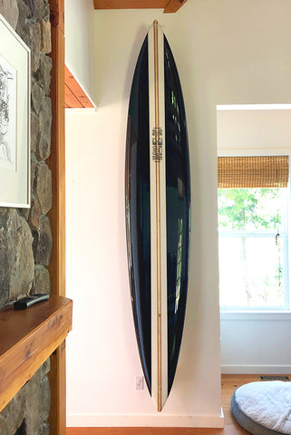 Front view wall mounted surfboard