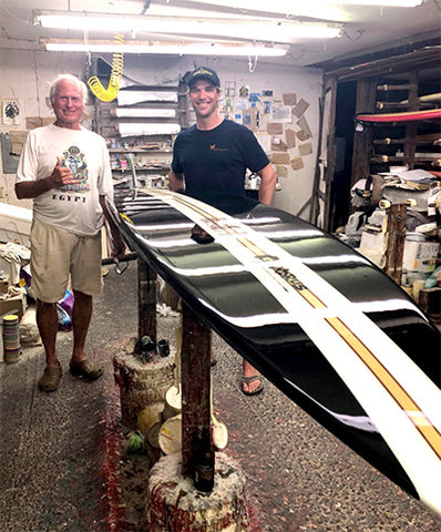 Peter with legendary surfboard shaper