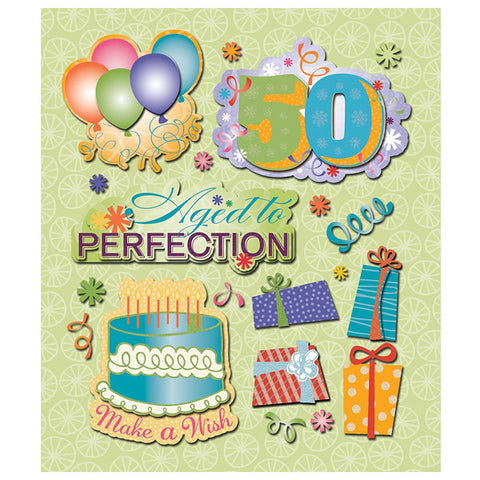 50th Birthday Sticker Medley KCO-30-587779