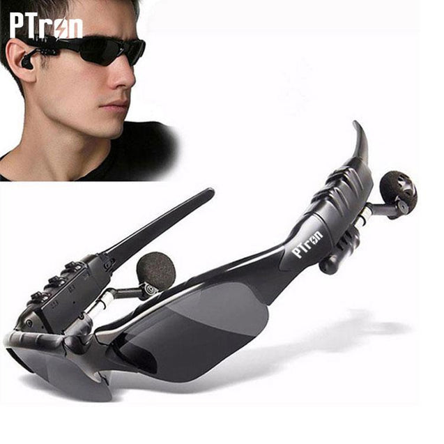 PTron Viki Bluetooth Headset Sunglasses For Xiaomi Redmi 5A (Black)